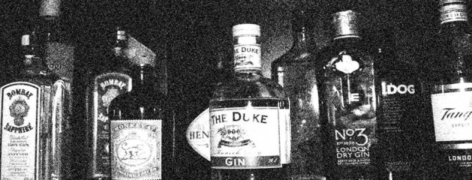 Sorten im Gin Cabinet