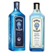 Bombay Sapphire Gin Flaschen
