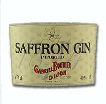 Saffron Gin Etikett