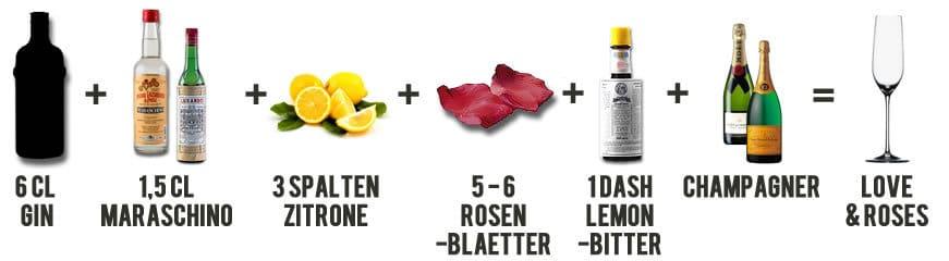 Love & Roses Cocktail Rezept