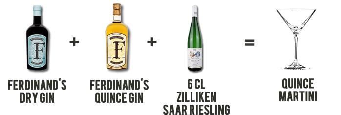 Ferdinand's Quince Martini Cocktail Rezept