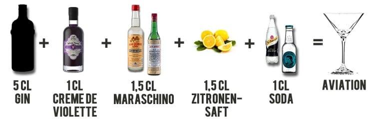 Aviation Cocktail Rezept