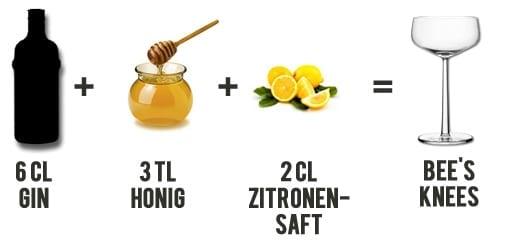 Bee's Knees Cocktail Rezept