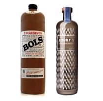 Vergleich zwischen Bobby's und einer klassischen Geneverflasche