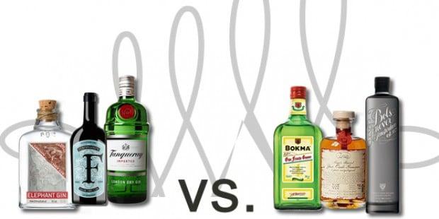 Vergleich Gin - Genever