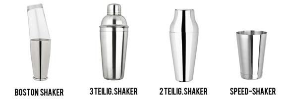 Vergleich der Cocktailshaker