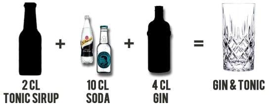 Gin & Tonic mit Tonic Sirup
