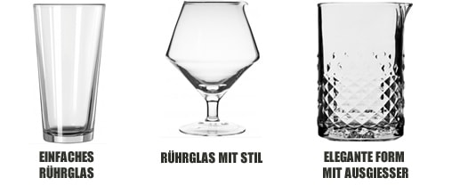Rührgläser Formen & Sorten