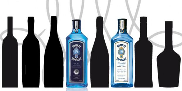 Vergleich der Bombay Sapphire Gins