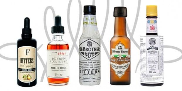 Auswahl verschiedener Cocktail Bitters
