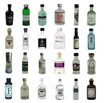 Adventskalender aus Gin-Miniaturen