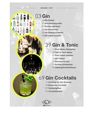 Inhaltsverzeichnis des Gin & Tonic Guides