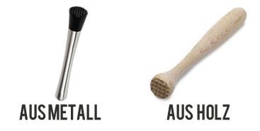 Unterschiedliche Materialien beim Barstößel