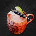 Alkoholfreier Blueberry Mule