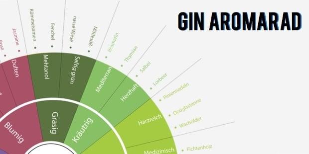 Gin-Aromen beschreiben – GINspiration Gin Aromarad